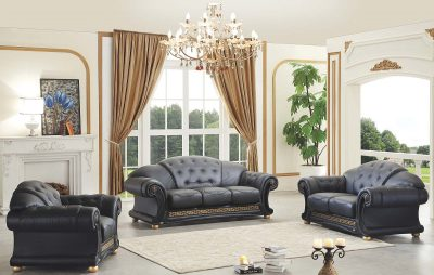 Living Room Furniture Sofas Loveseats and Chairs Apolo Black