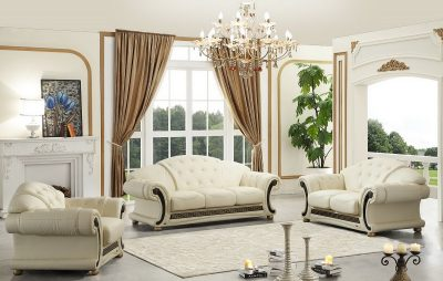 Living Room Furniture Sofas Loveseats and Chairs with Sleepers Apolo Ivory