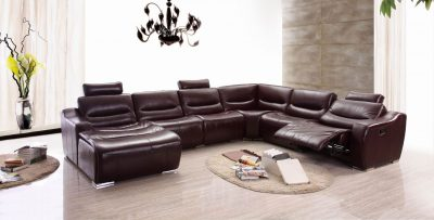 Living Room Furniture Recliners 2144 Sectional Left w/Recliner
